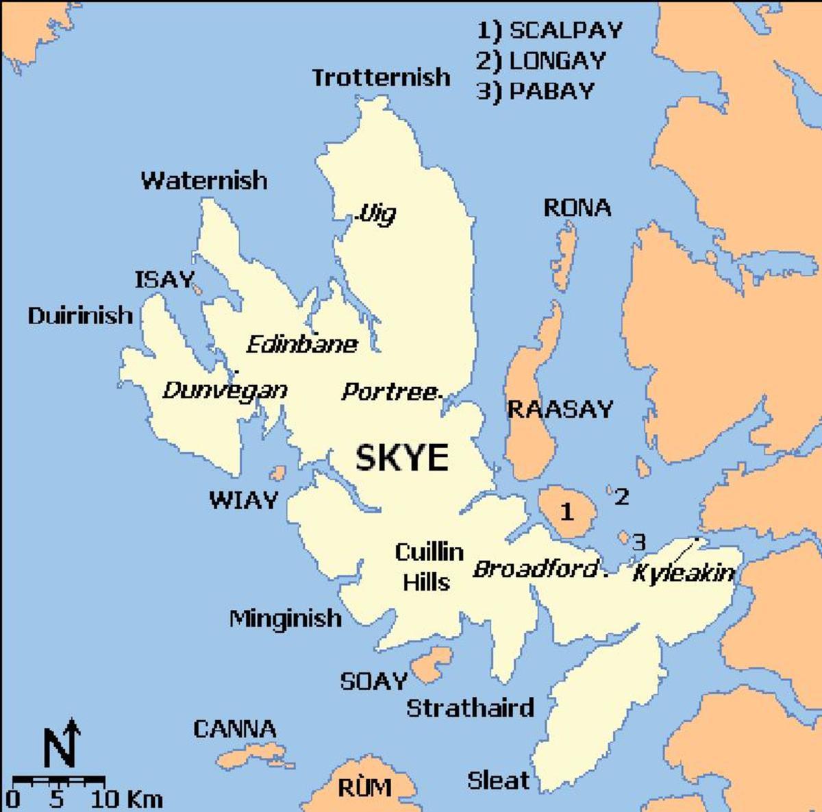 SKYE Map