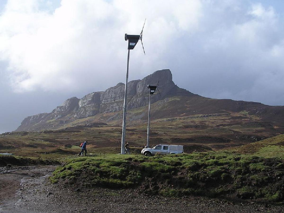 EIGG'S wind-turbines