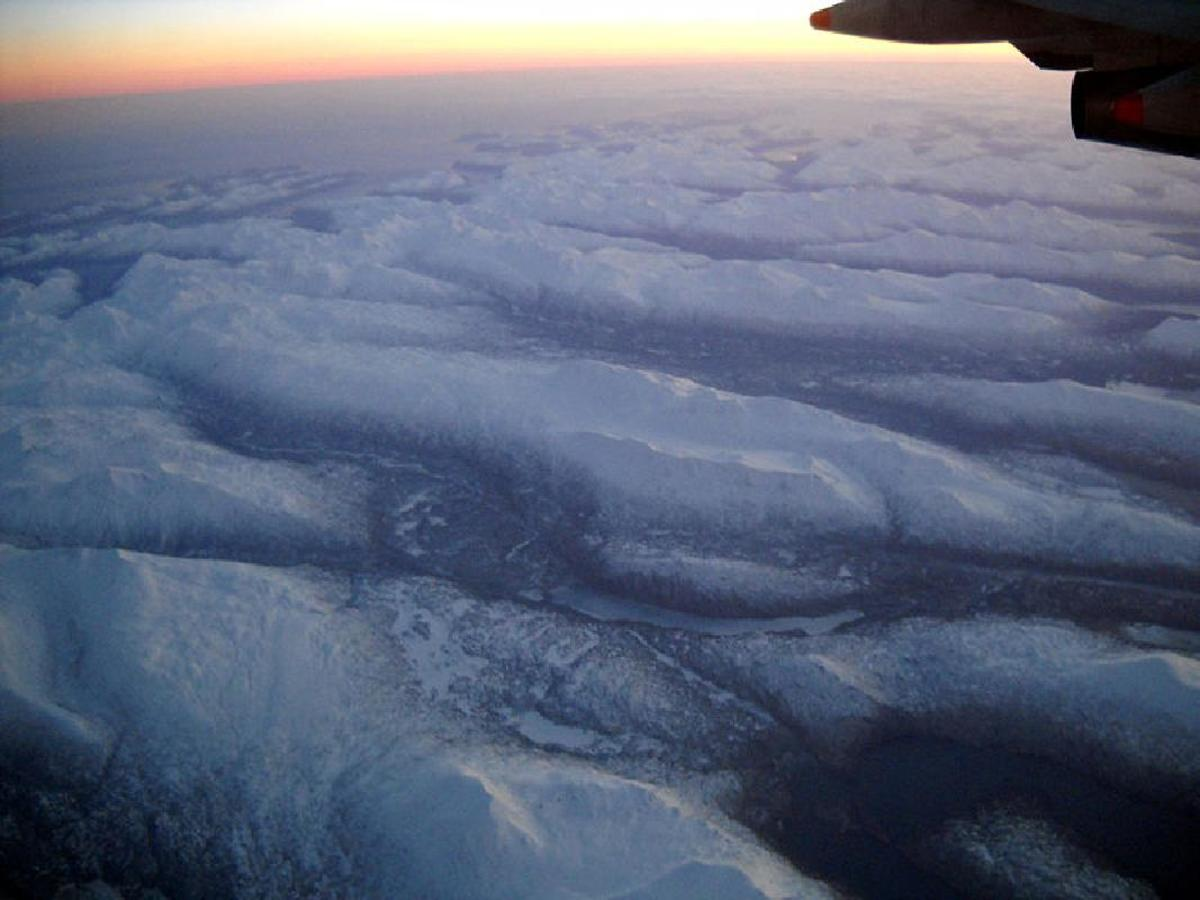 Aleutian Islands from 32,000 feet