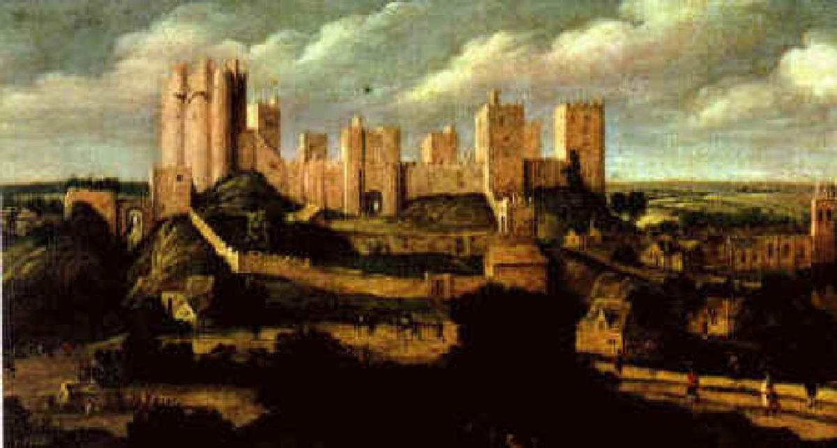 1620 Painting of Pontefract Castle by Alexander  Keirincx