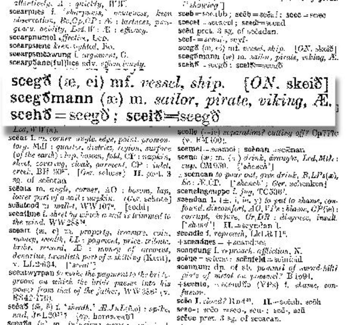 Anglo Saxon Dictionary