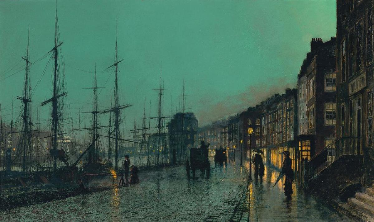 Shipping on the Clyde 1881 Atkinson Grimshaw