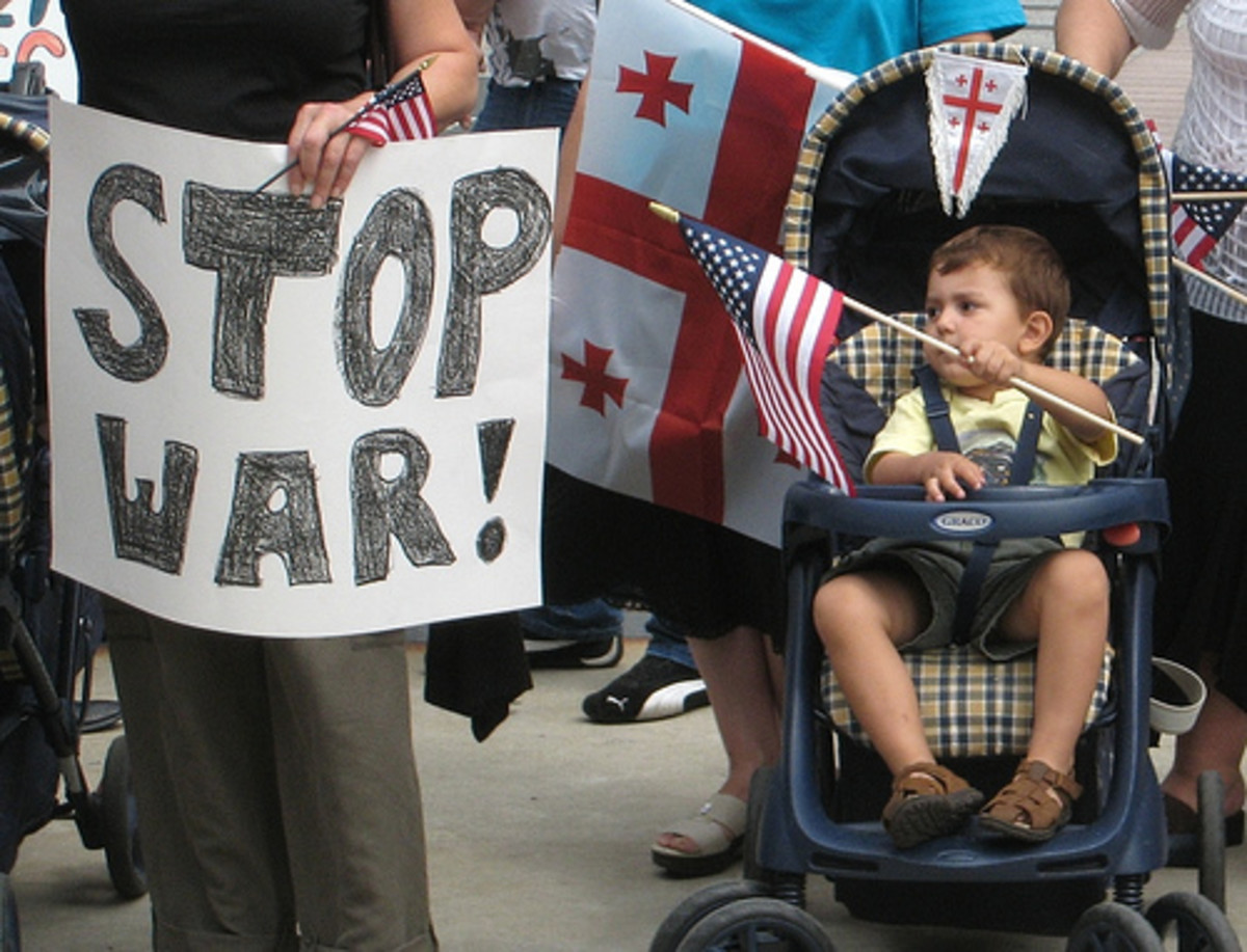 War protesters want to stop the war and ideas about war and war of ideas