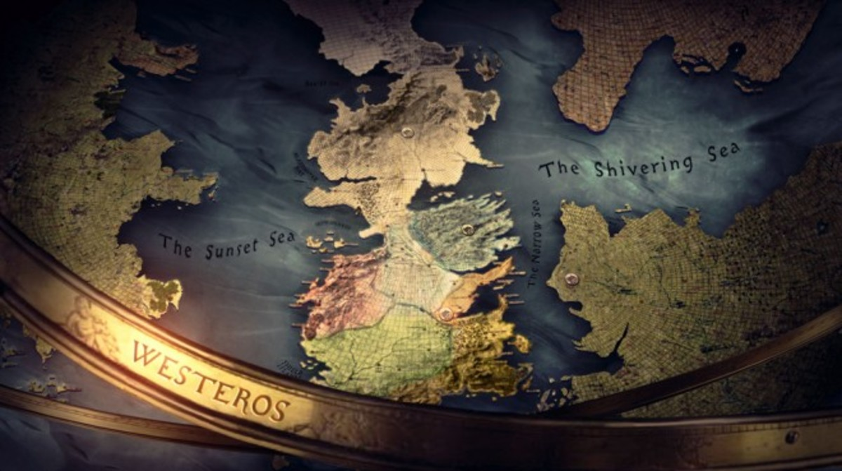The opening titles sequence of Game of Thrones conveys a presentist style. Image: HBO