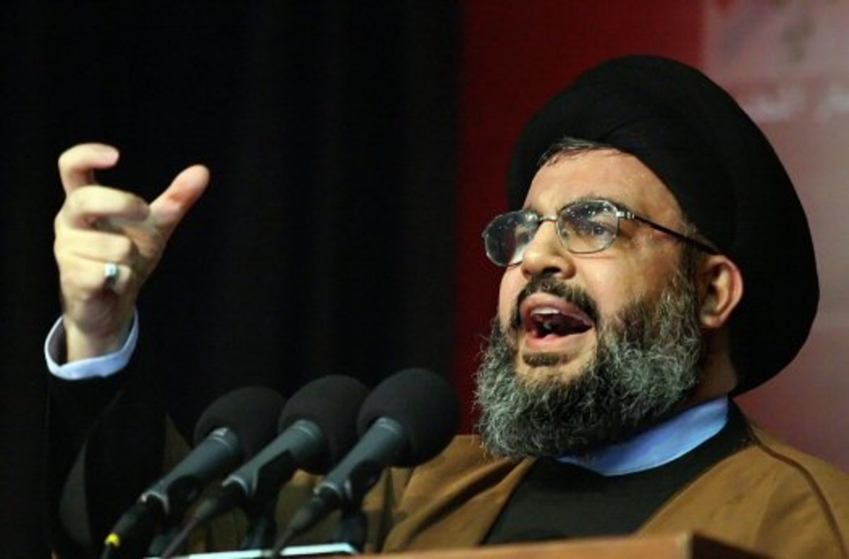 Some ideologues use religion to propagandize their ideas about some crazy religious wars. Here, Sheik Hassan Nasrallah of the Lebanese Hezbollah talks about its ideological war against the US