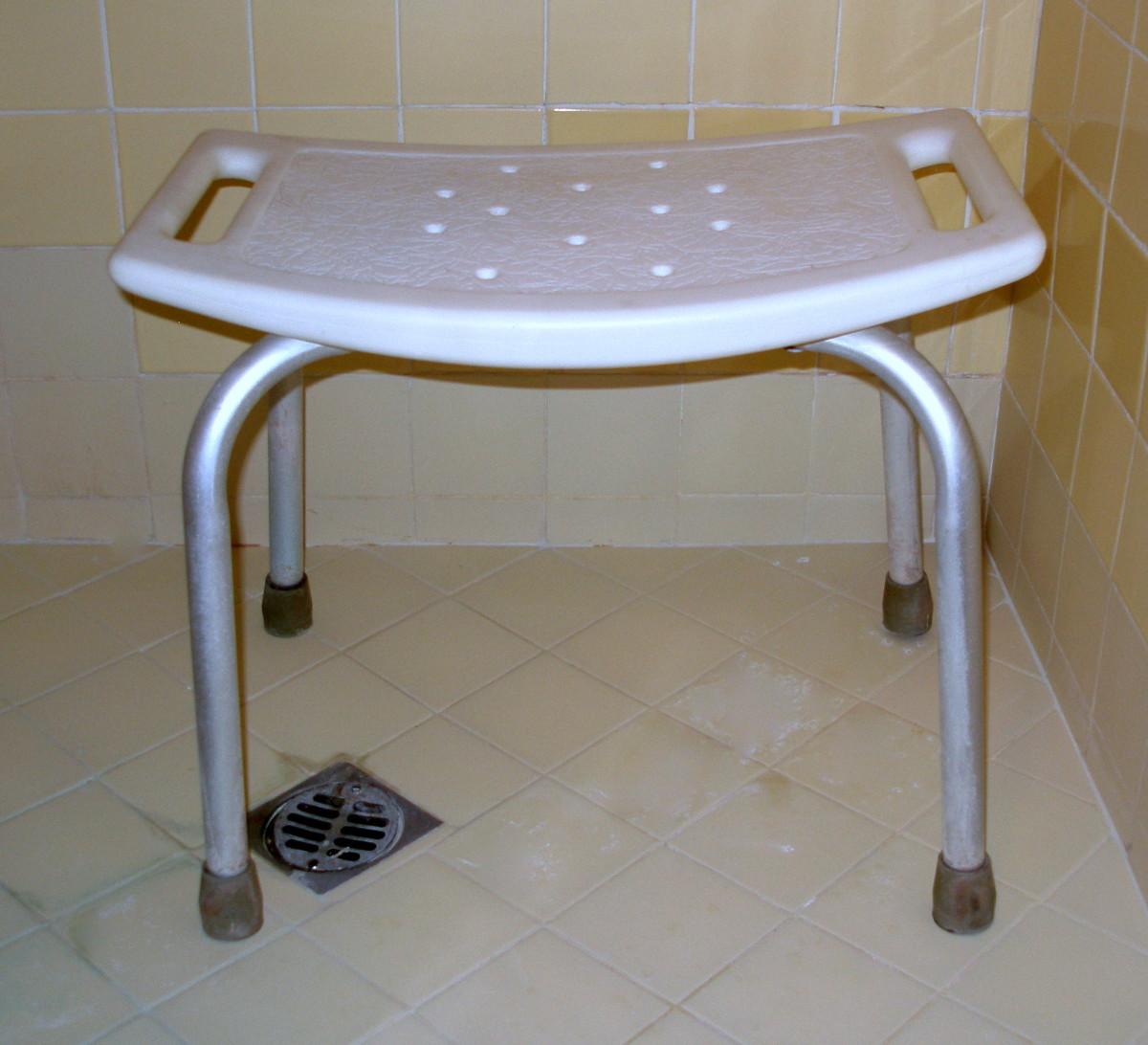 A basic shower seat