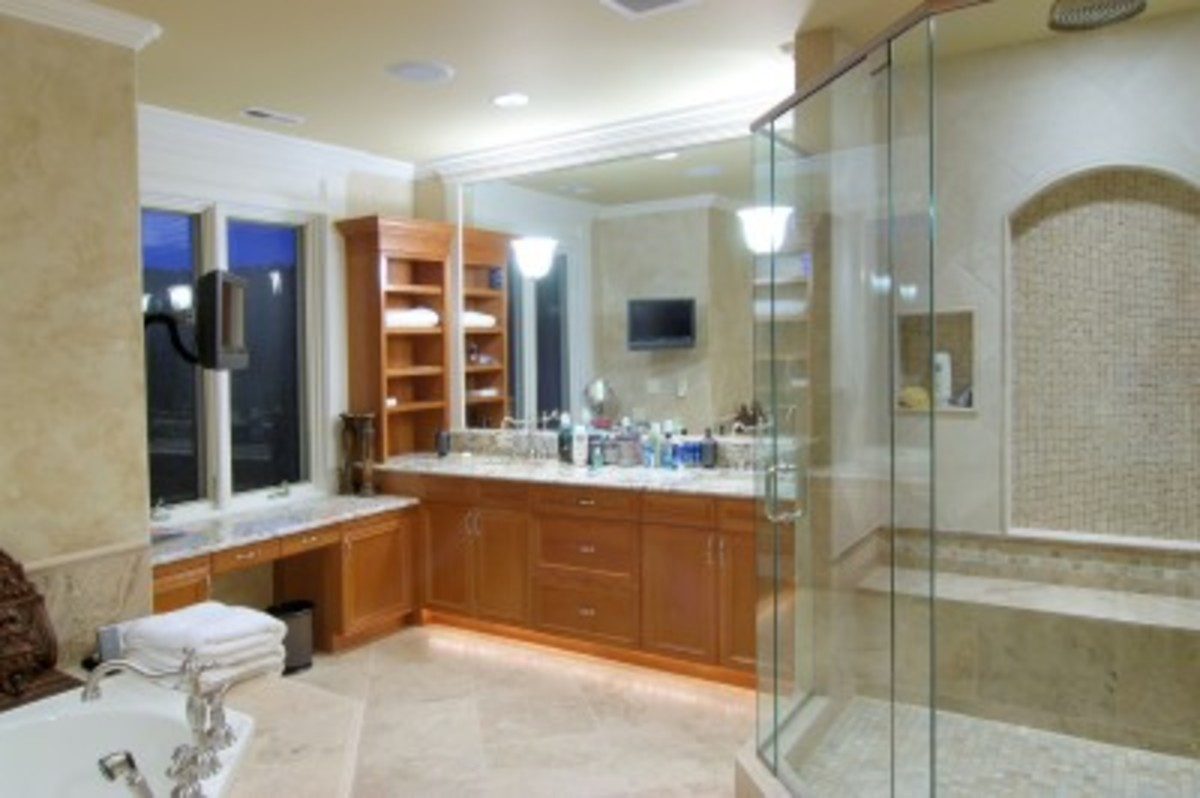 A built-in shower bench can enhance the visual appeal of a bathroom