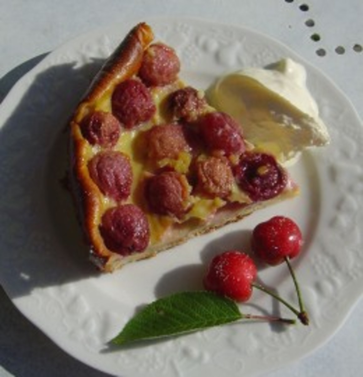 Cherry clafoutis - a Limousin speciality
