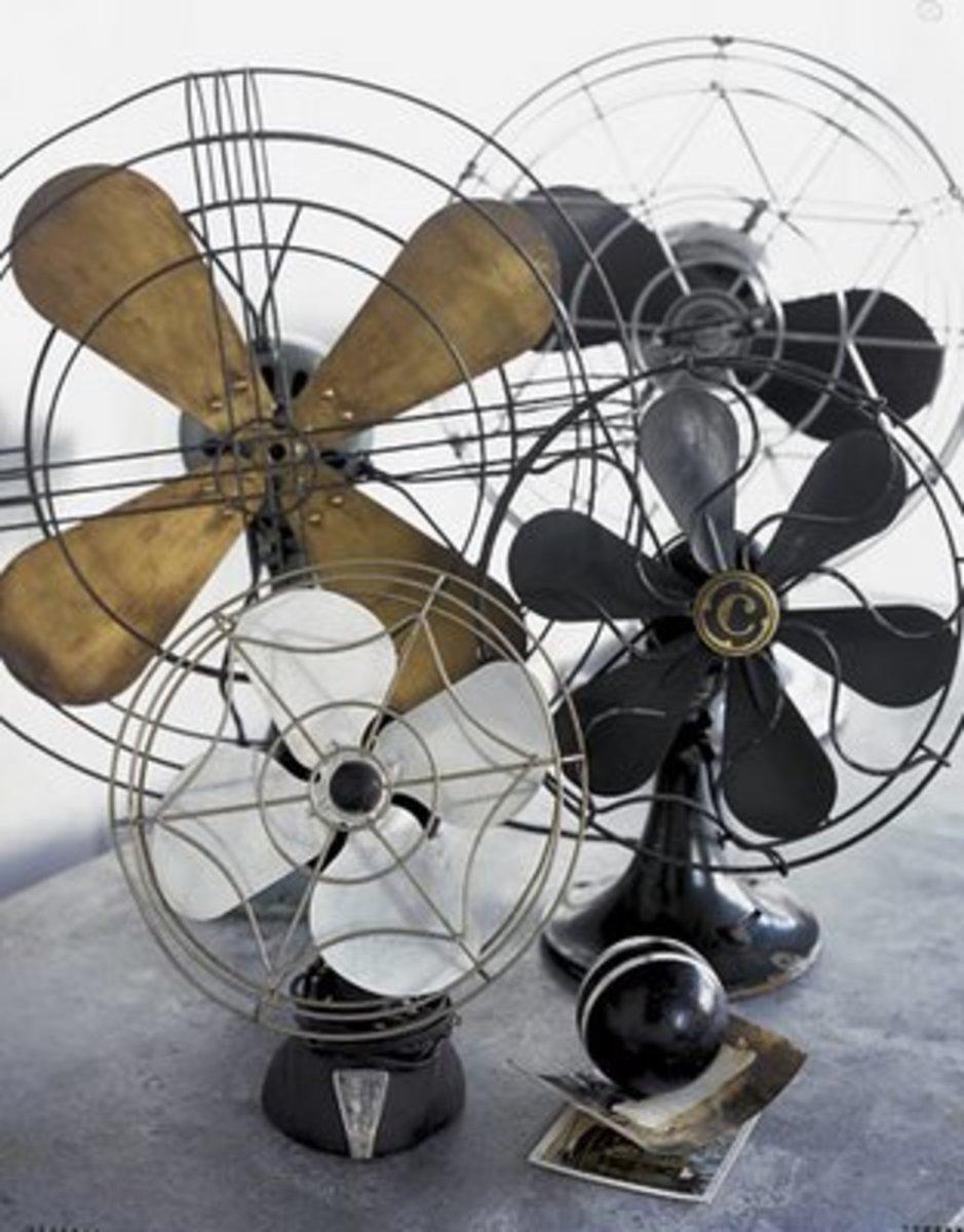 vintage portable fans