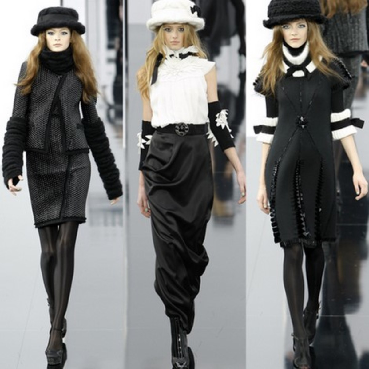 Even High Fashion loves the arm warmers!
