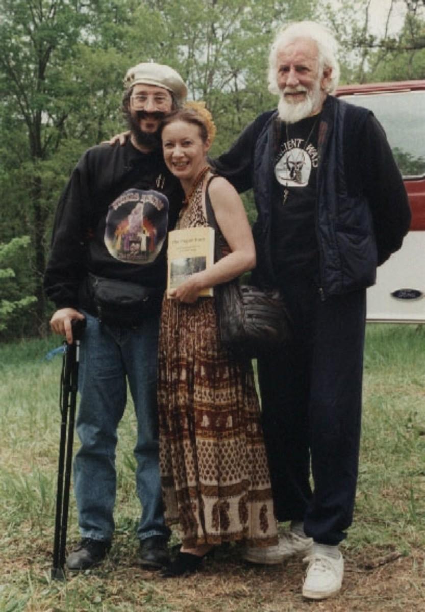 Stewart and Janet Farrar with Isaac Bonewits@Janet Farrar