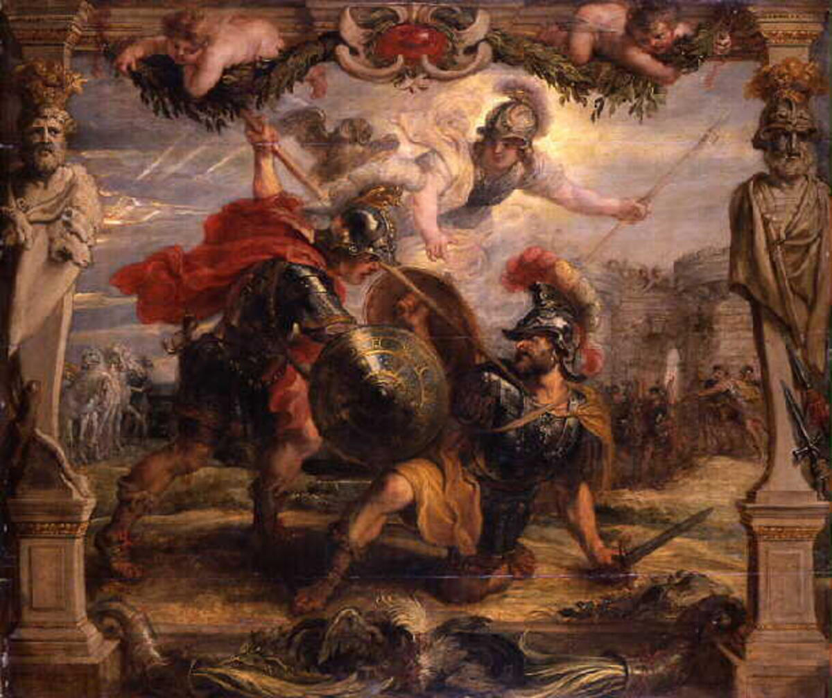 Achilles Slays Hector by Peter Paul Rubens.
