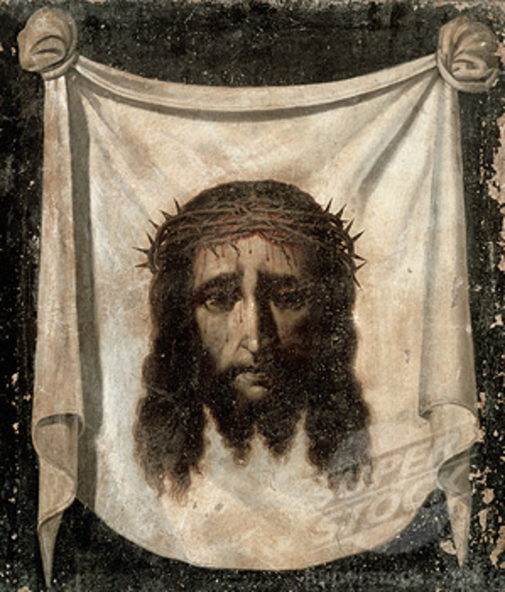 Jesus face cloth