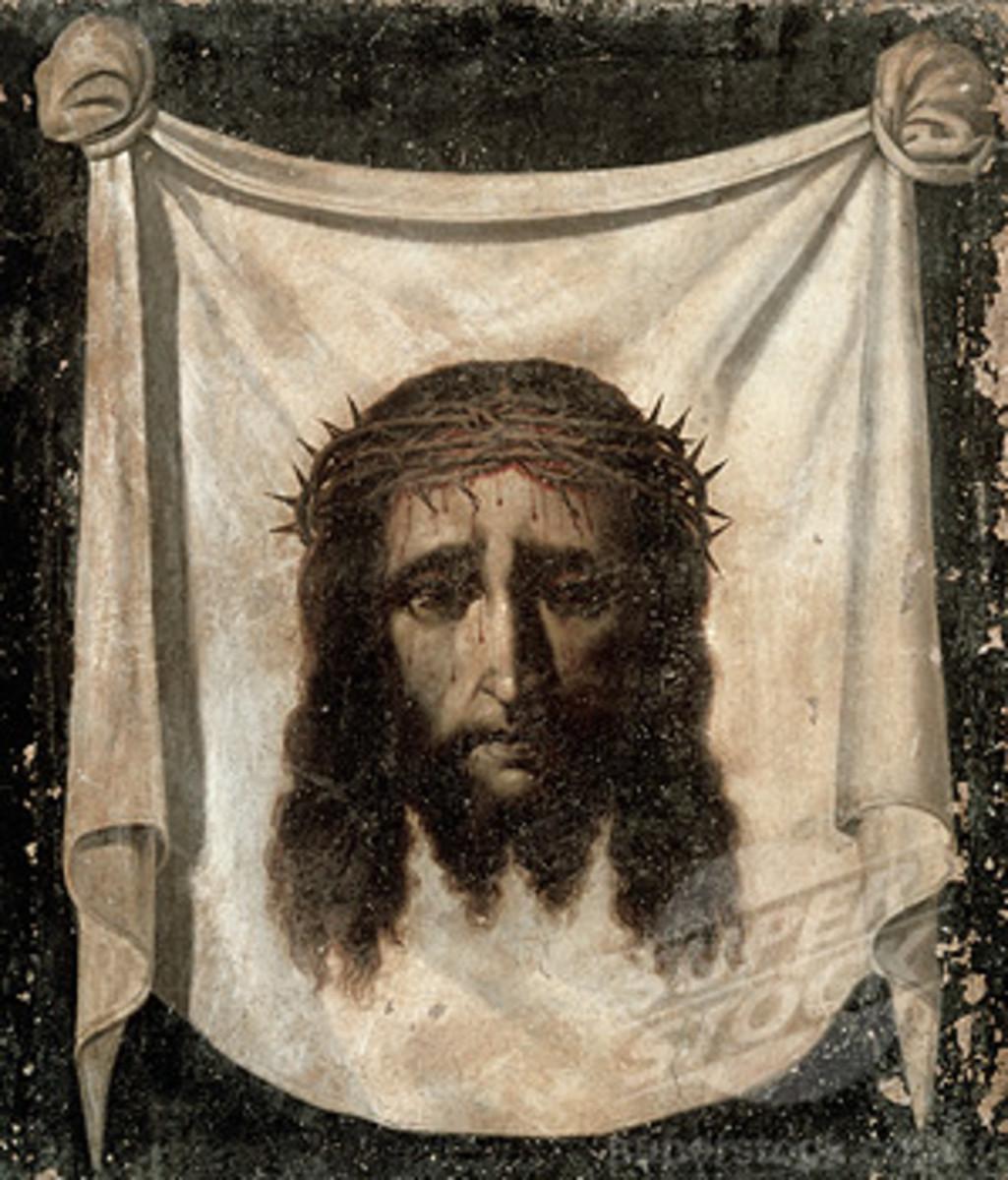 Jesus face cloth