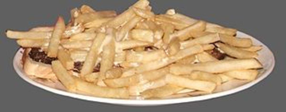 Horseshoe with white sauce