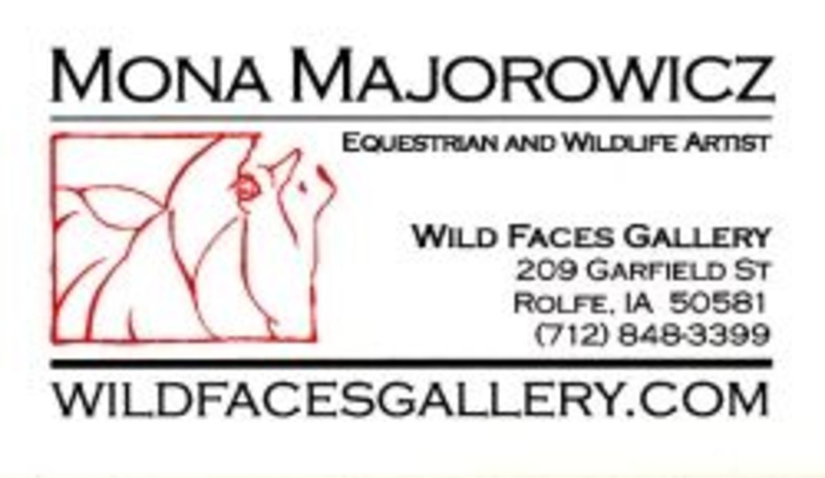 Wild Faces Gallery Business Card