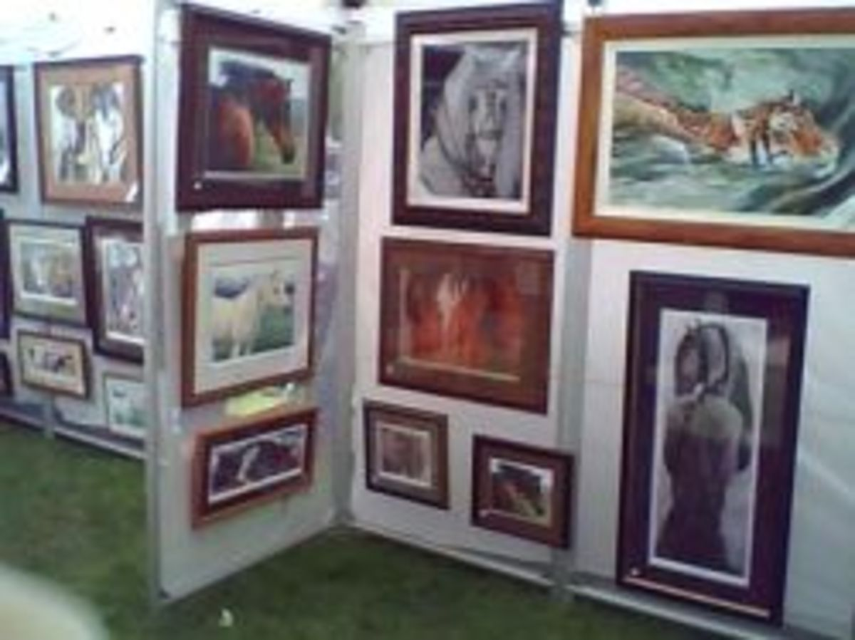 My booth at an art fair