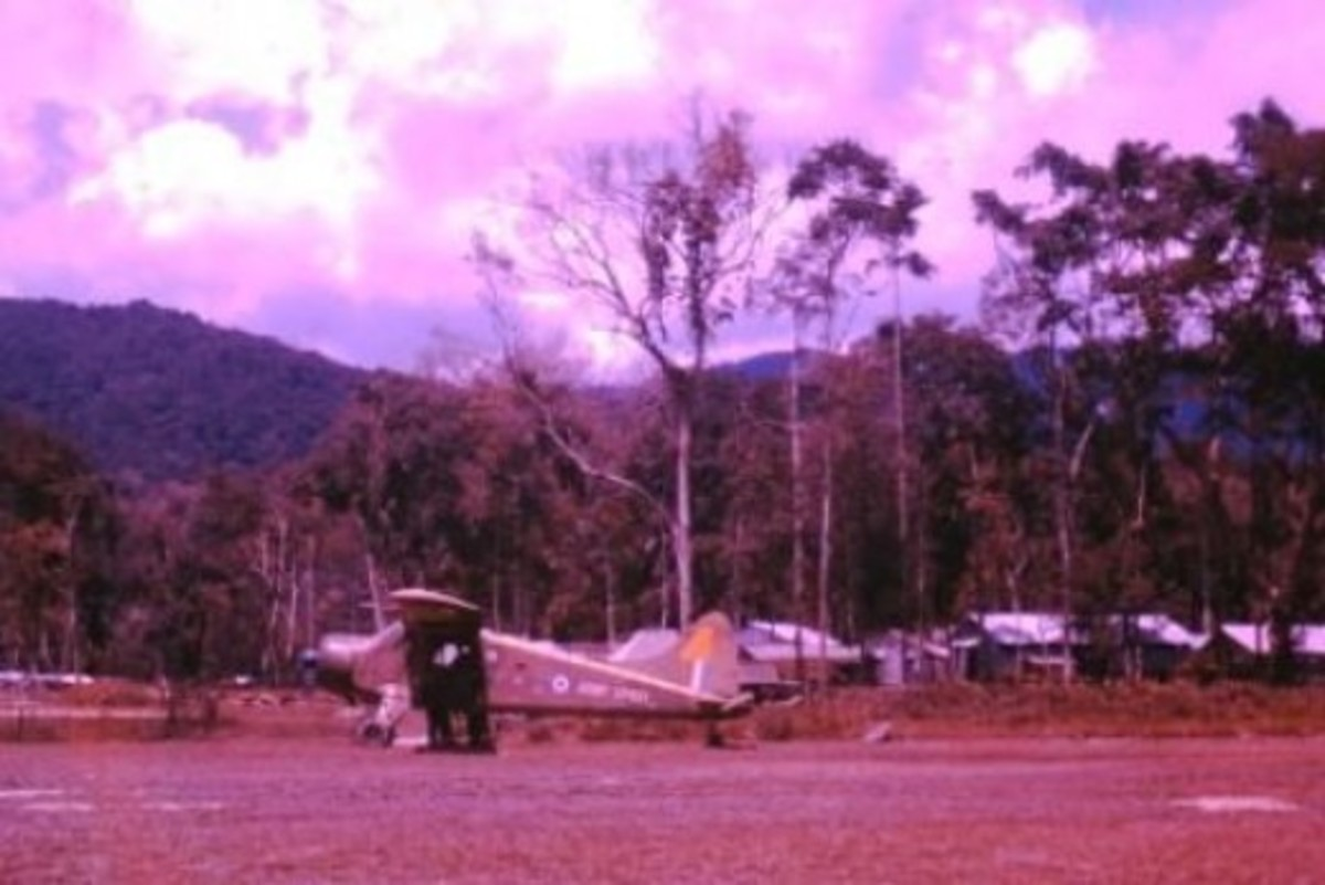 De Havilland Beaver somewhere in Borneo