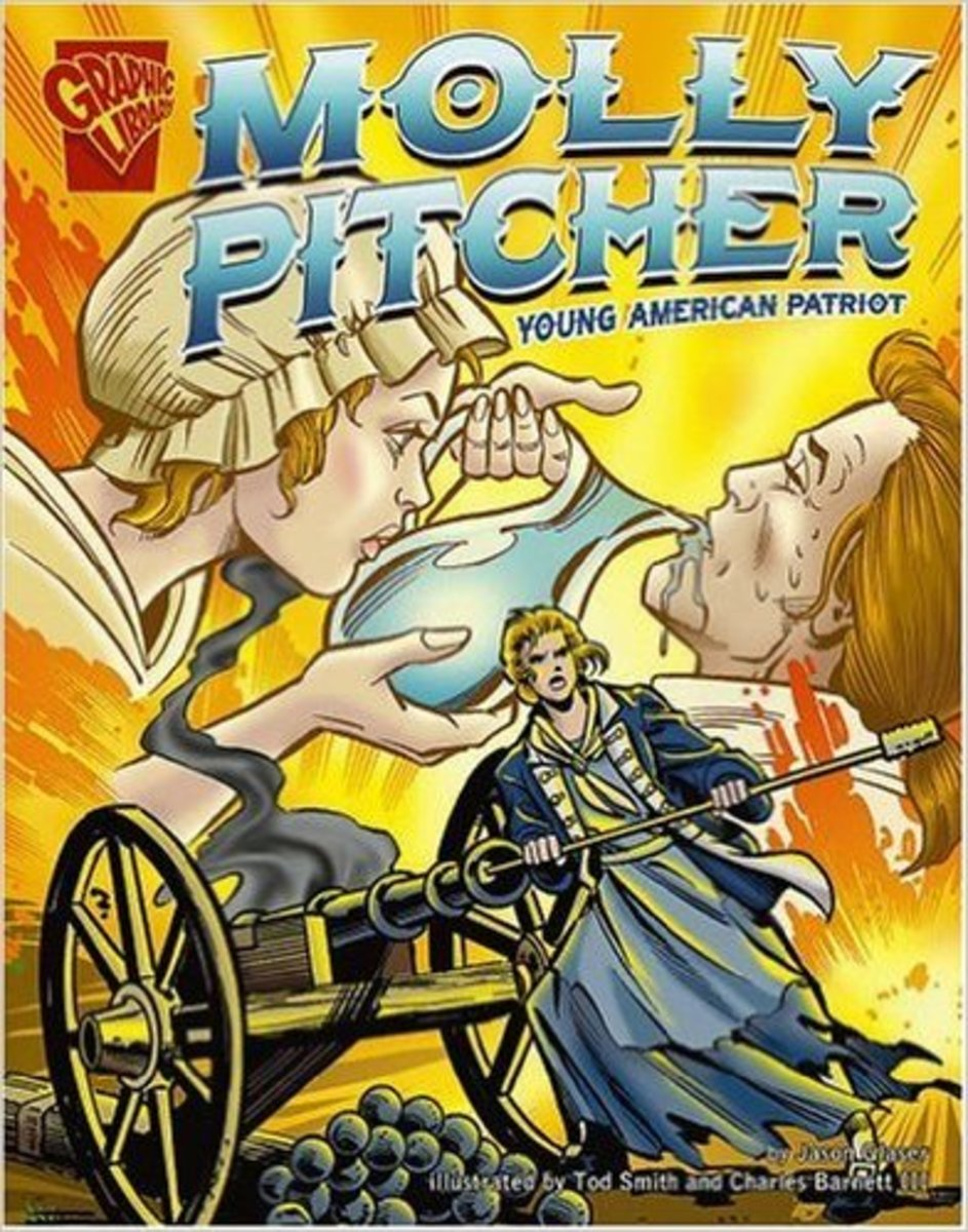 Molly Pitcher: Young American Patriot (Graphic Biographies) by Jason Glaser  - All images are from amazon.com.