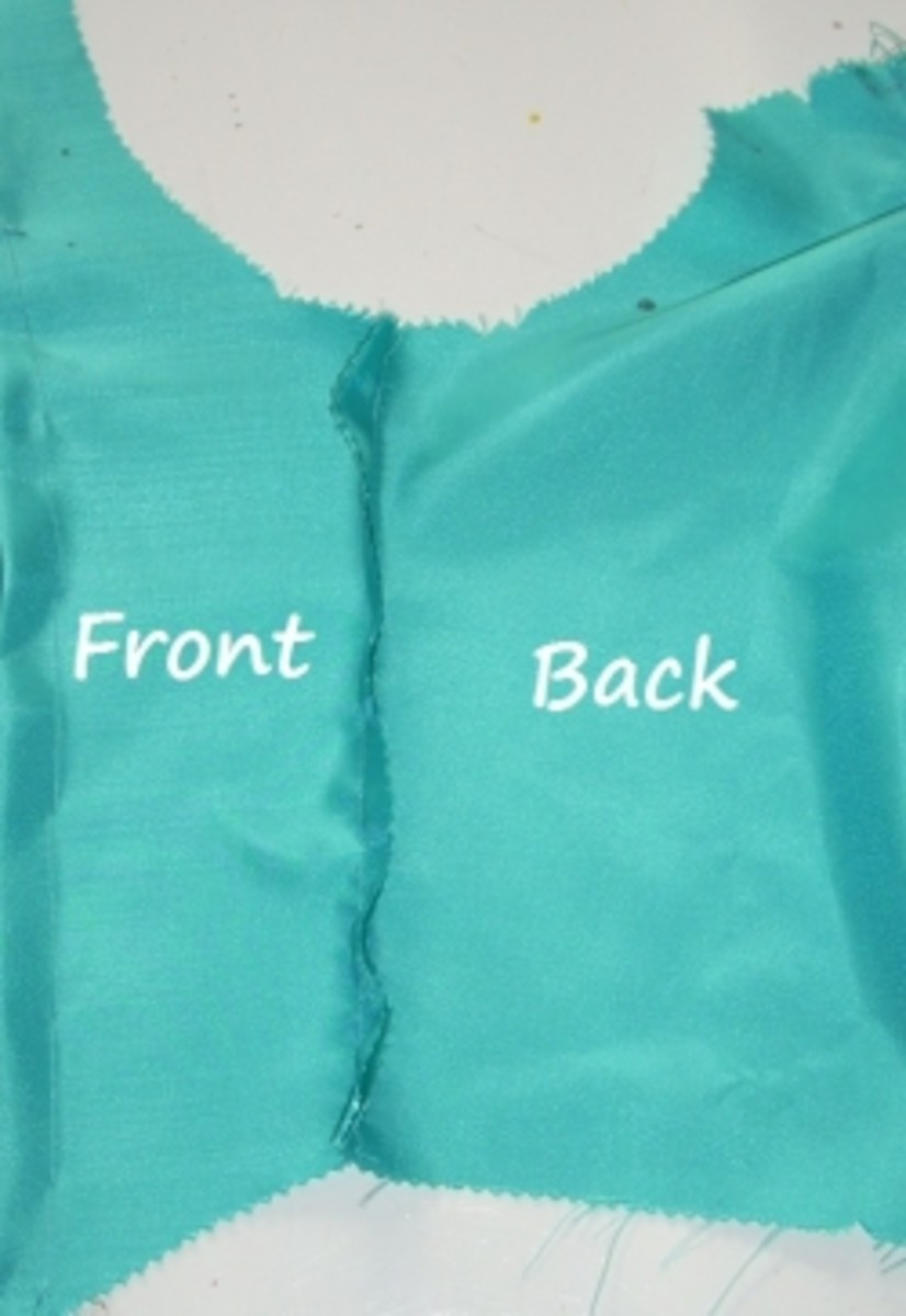 Sew front to back piece