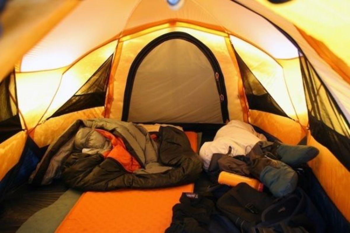 Camping plays a big part in adventure travel