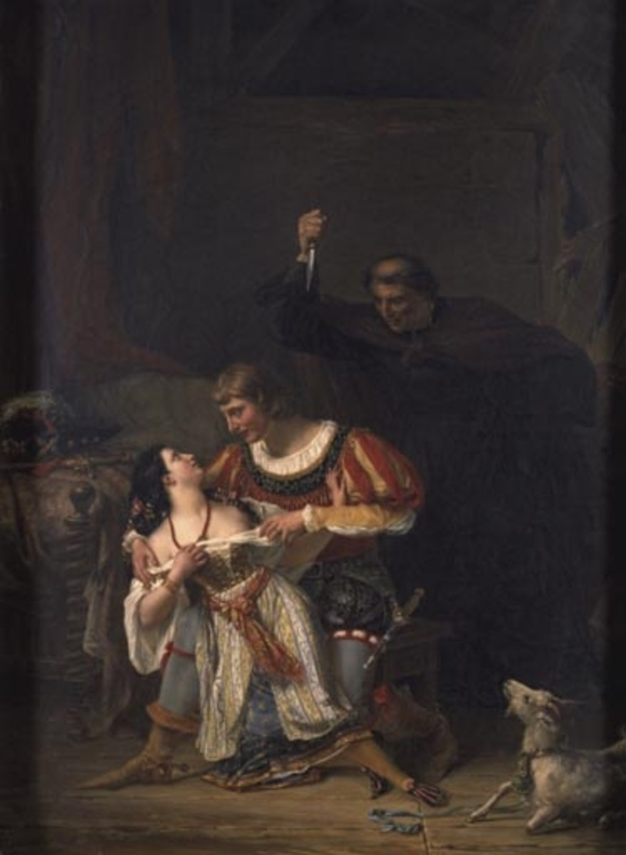 Frollo stabbing Phoebus by Auguste Couder