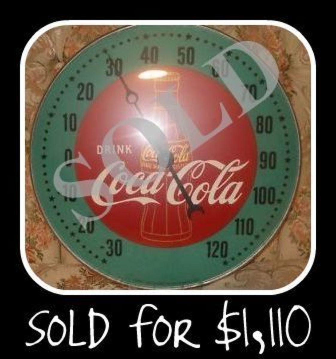 Coca Cola Pam Thermometer