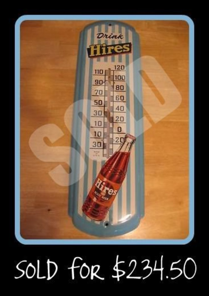 Hires Root Beer Thermometer