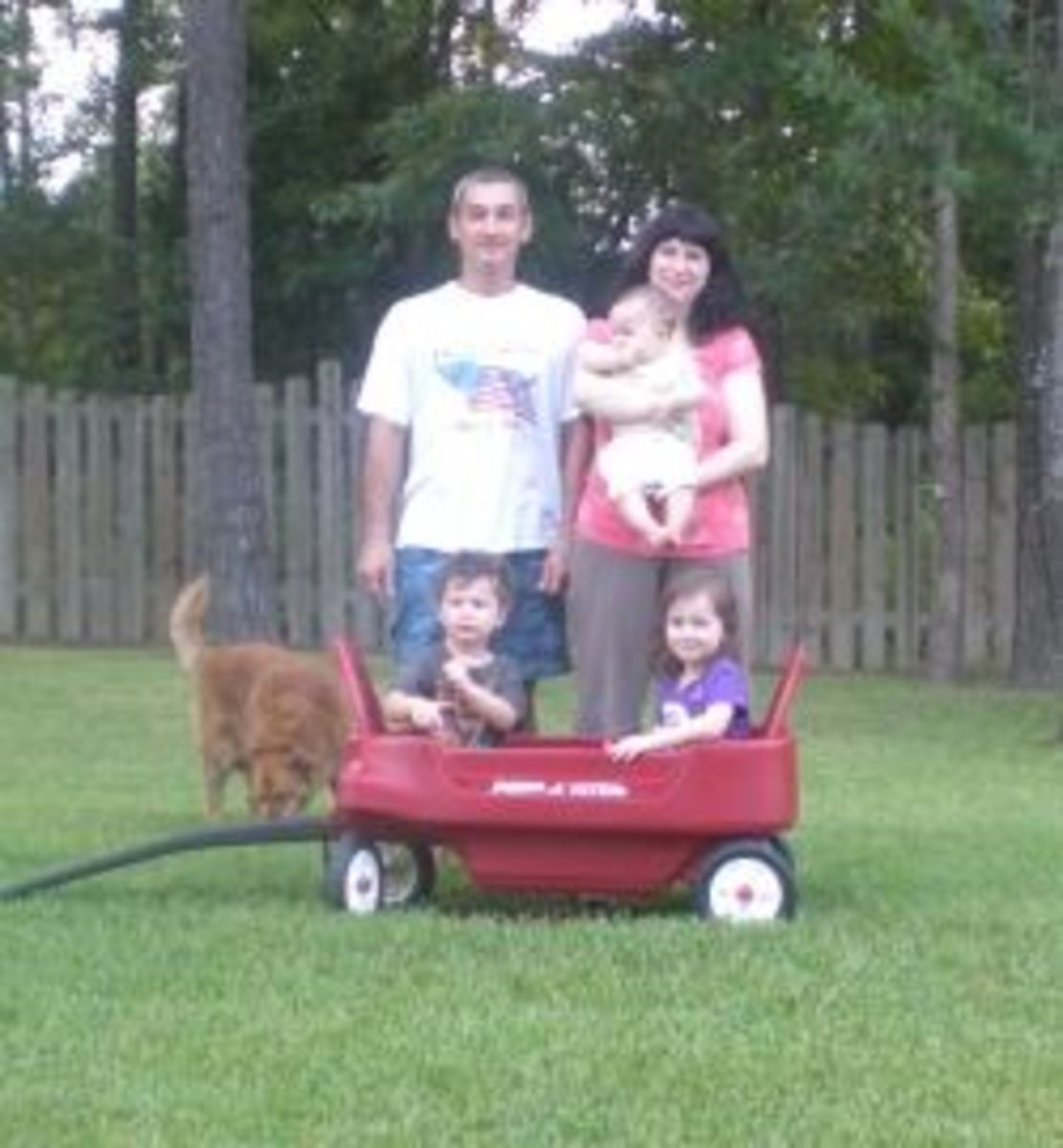Me with my Husband and 3 Children