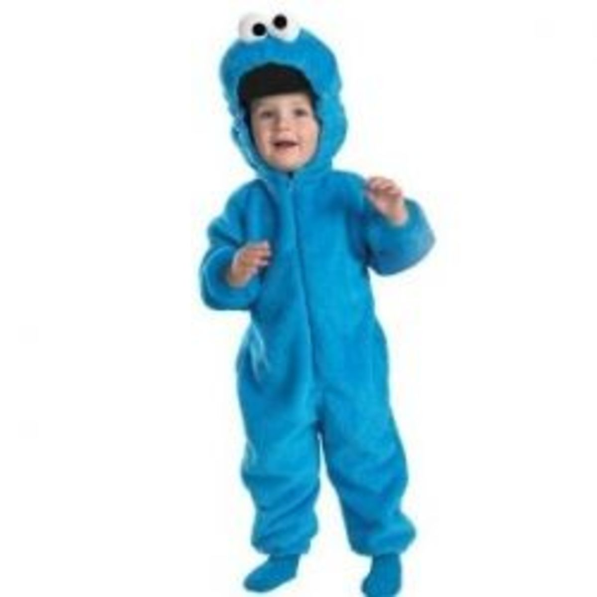 Cookie Monster Deluxe Two-Sided Plush Jumpsuit Costume