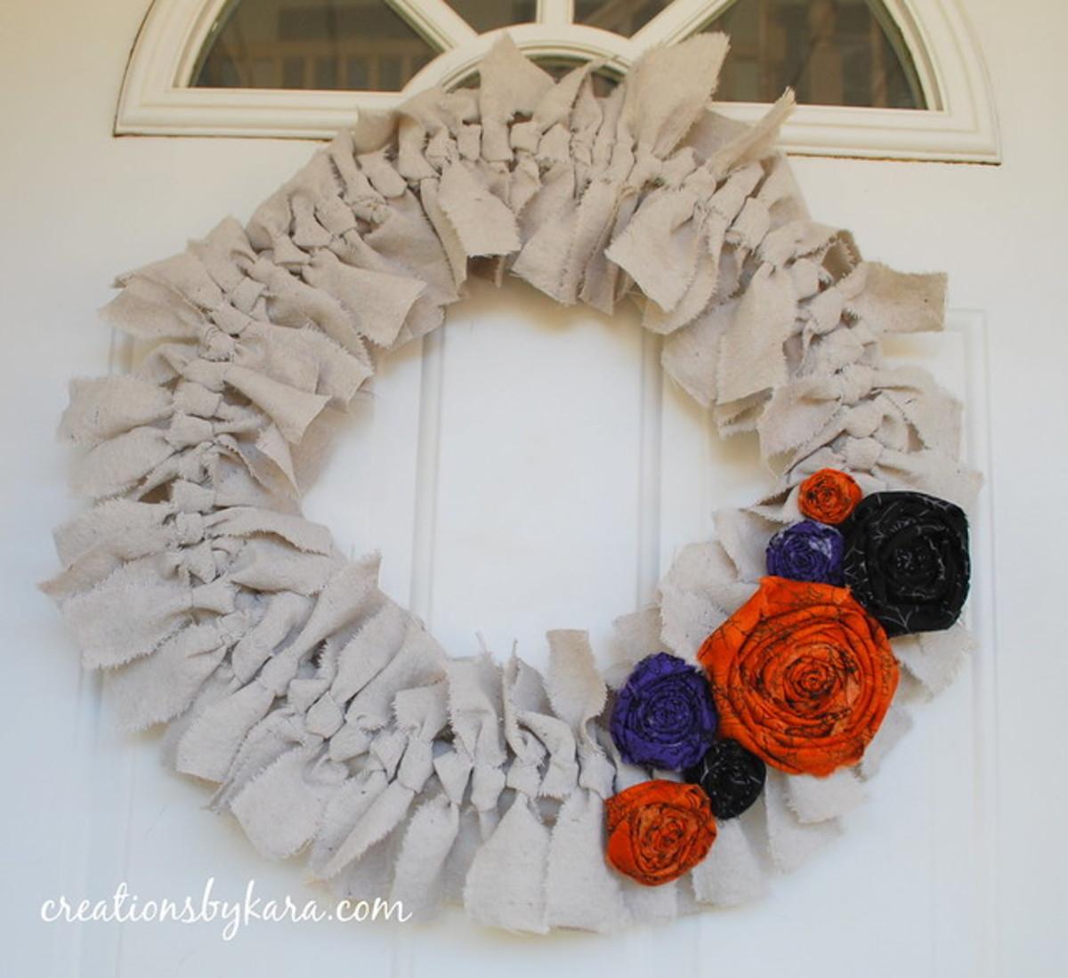 Shabby Chic Primitive Canvas Wreath