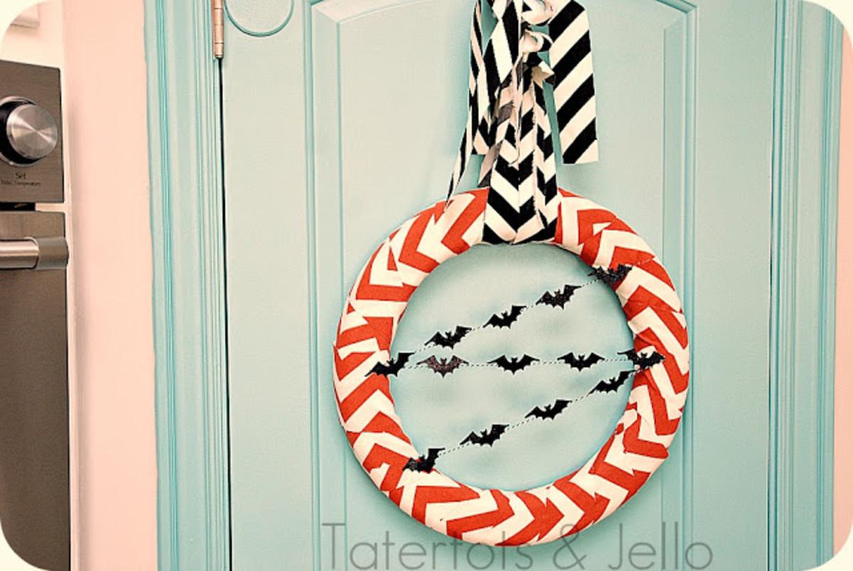 Halloween Chevron Wreath (used with permission)