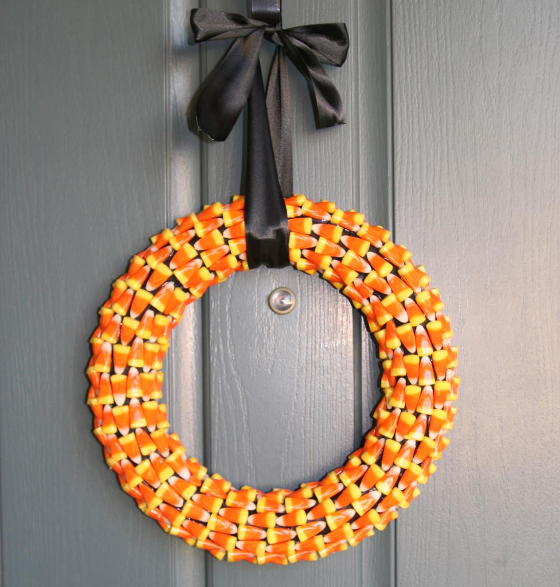 Candy Corn Halloween Wreath