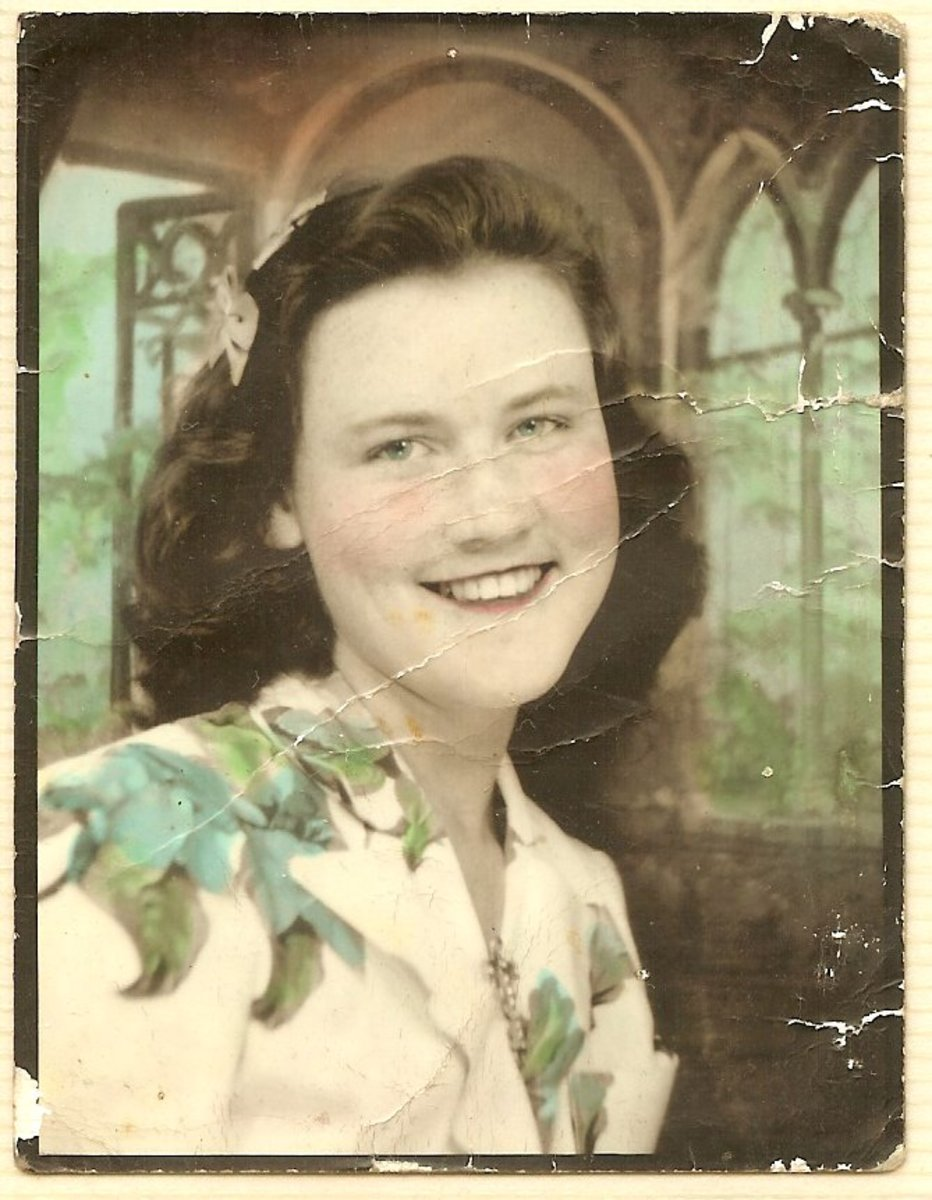 Lillian Elizabeth Foster Bobbitt - photo taken at time of wedding with Raleigh Wilson Bobbitt