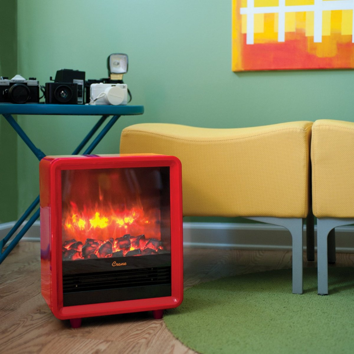 The Fireplace Space Heater for Ironic Hipster Living Rooms