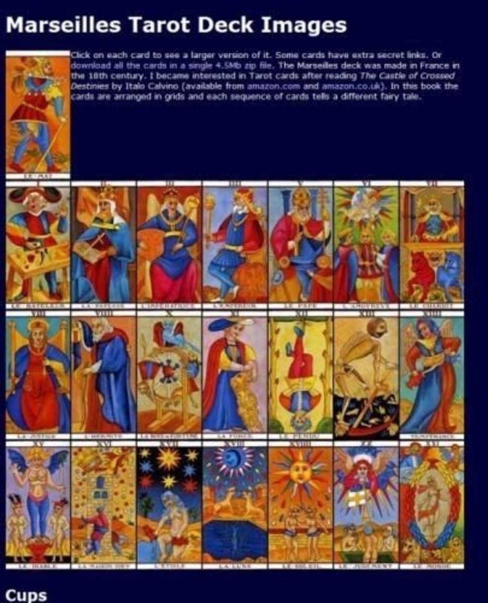 Marseilles Tarot Deck - image allowed for reviewing