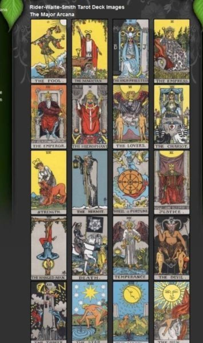 Rider Waite Smith printable tarot cards