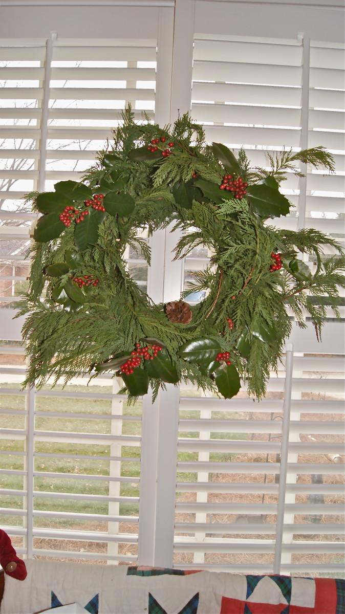 A homemade Wreath I made last Christmas.