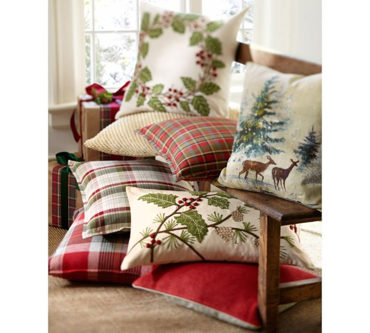 You can make these at home with a pretty christmas pattern and great backing.
