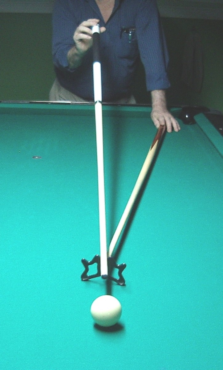 How NOT to hold the cue when using the rest