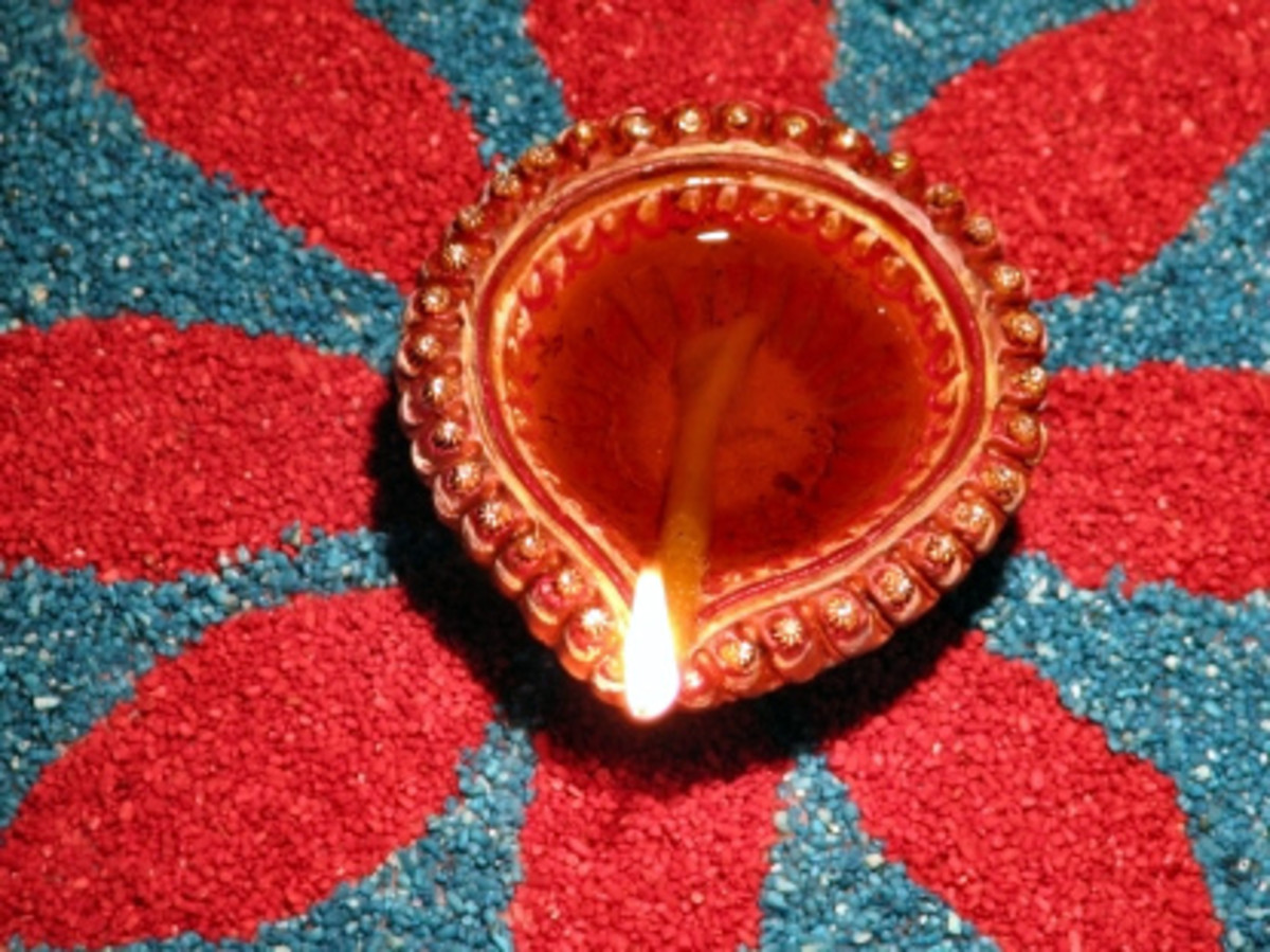 Diwali oil lamp