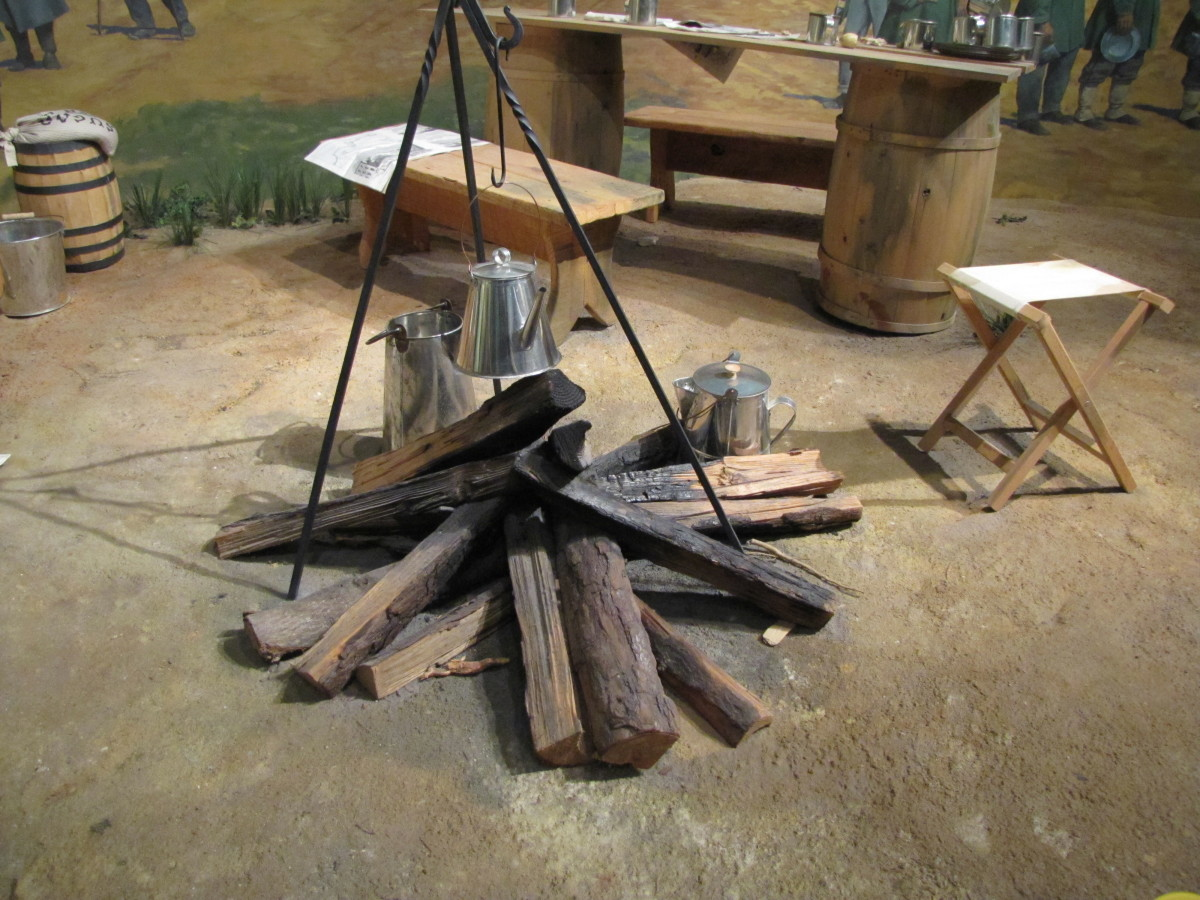 Unfortunately at Andersonville, wood for cooking was often unavailable.
