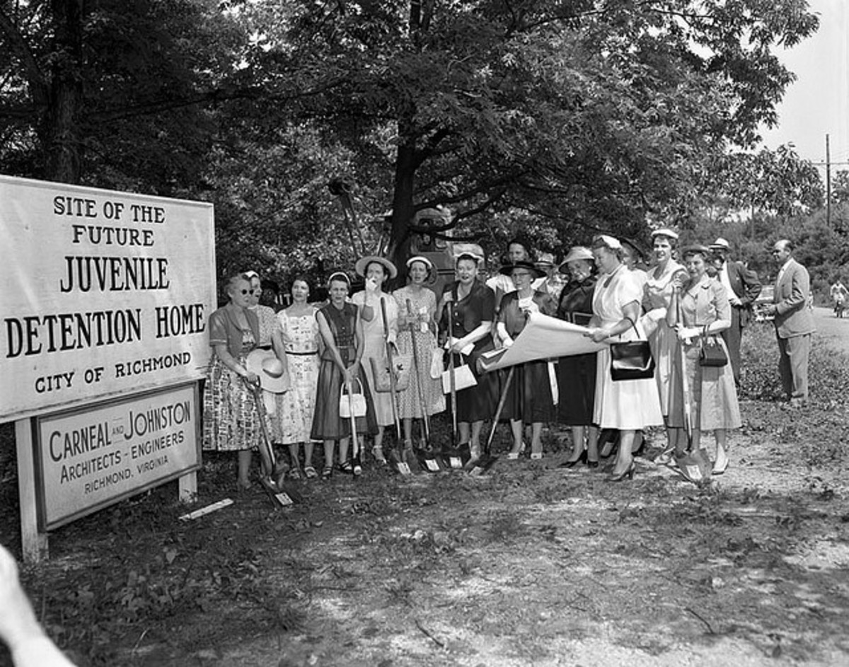 Breaking Ground, New Detention Center, Richmond, Virginia, June 14, 1956. (No none restrictions on publication)