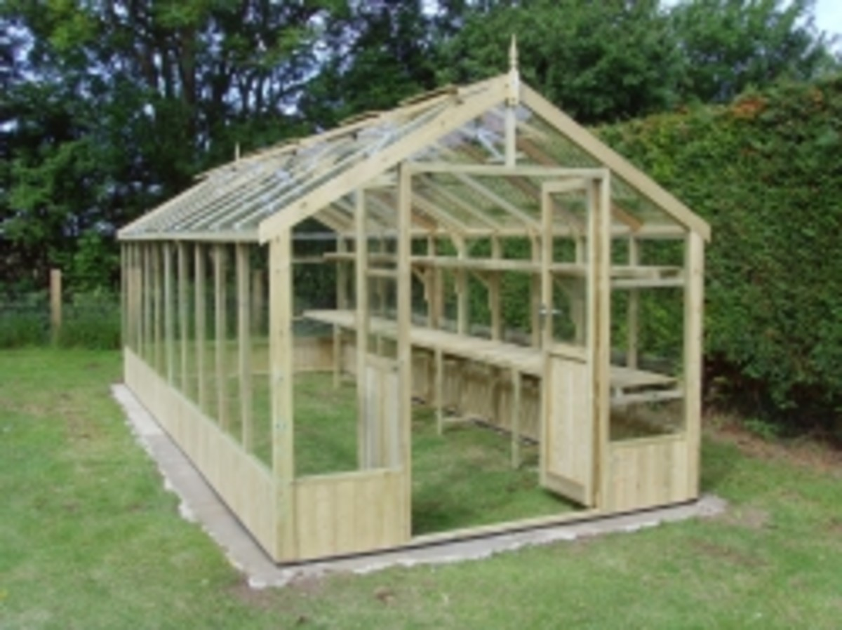 Wooden Greenhouse Shop