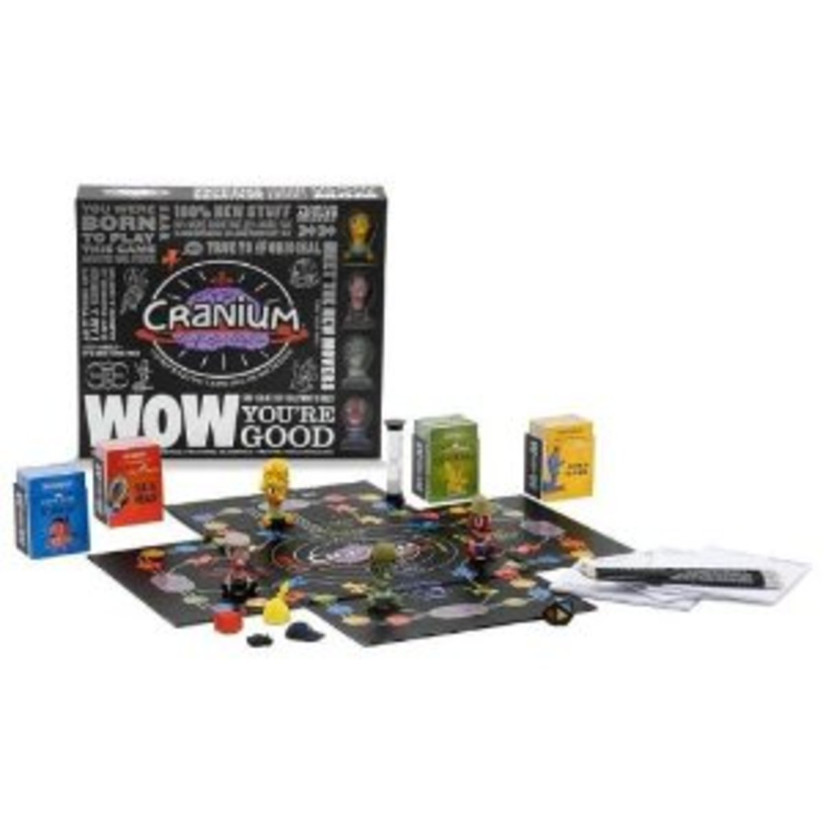 Cranium is a game where you move, act, sing, doodle ... showing off many talents!
