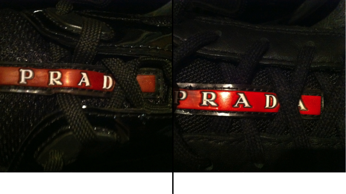 prada saffiano leather wallet pink - How to tell real from fake Prada sneakers
