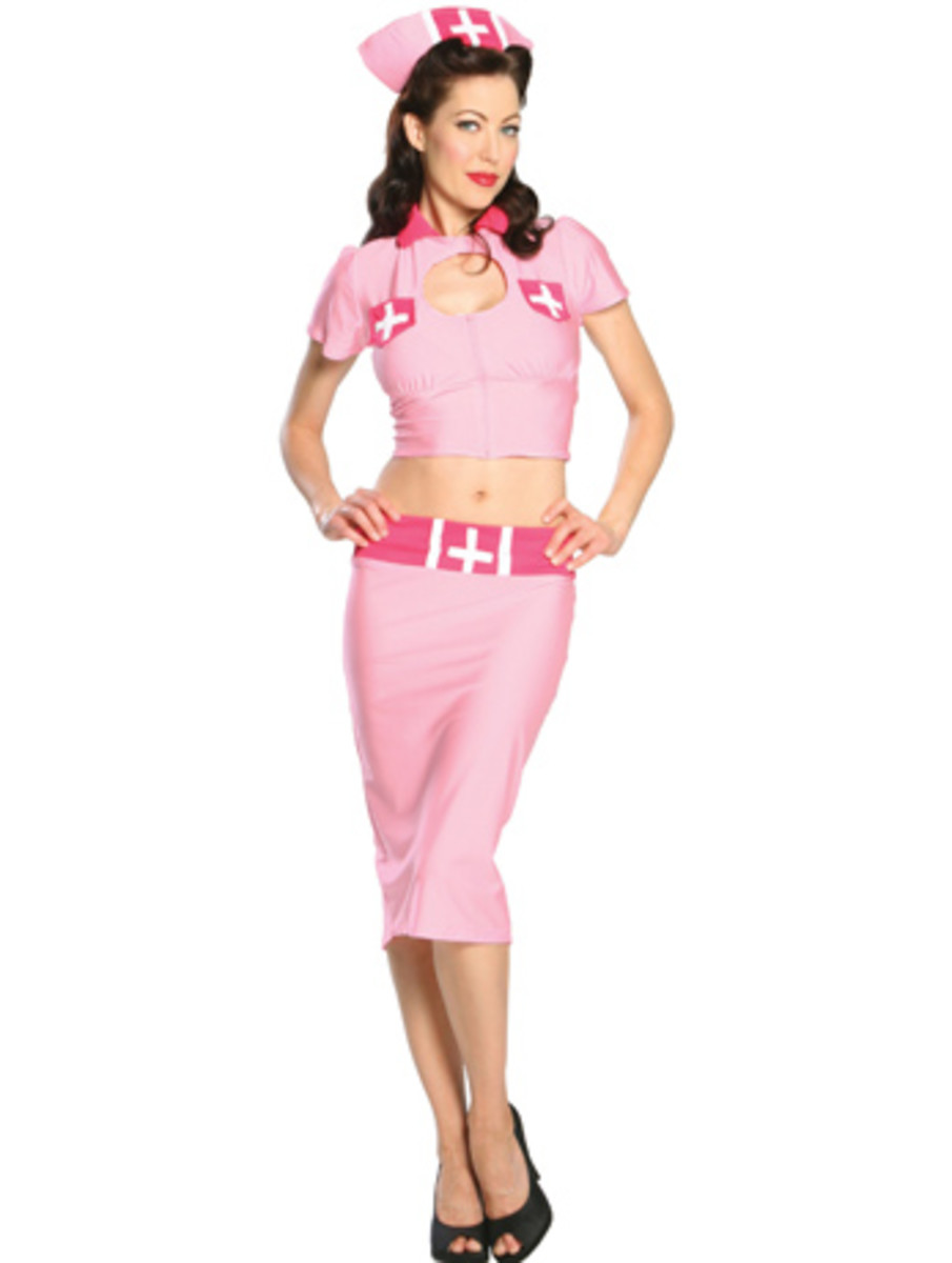 """The hot """"Nurse"""" look was popular in the 1940's at the onset of WWII"""
