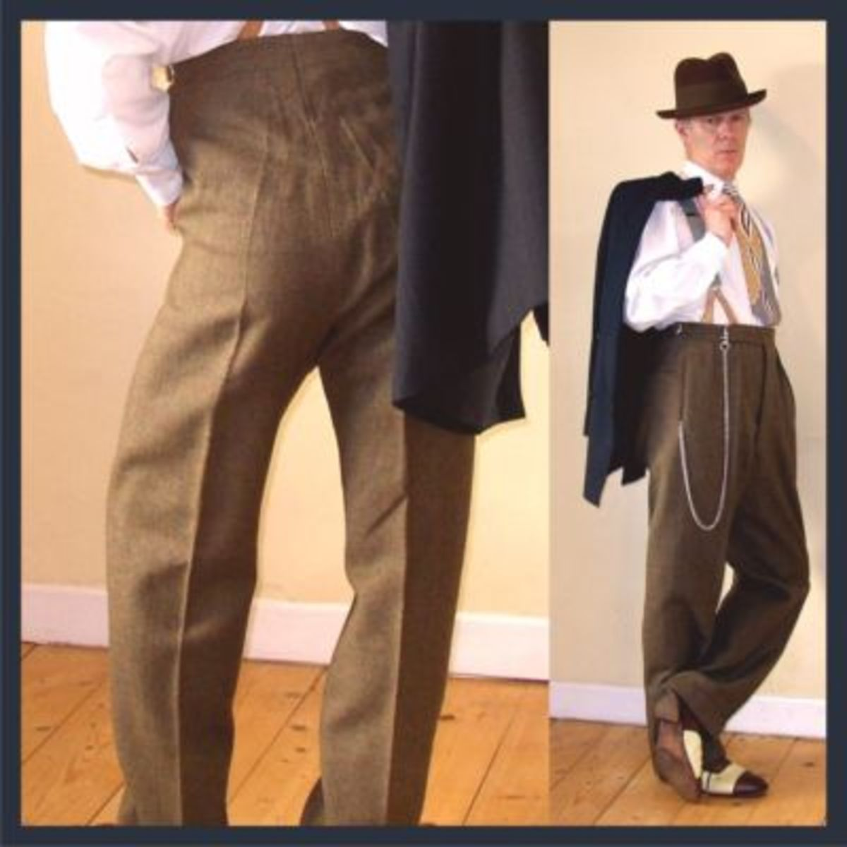 Men's style with suspenders
