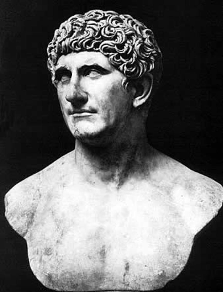 Bust of Roman General Mark Antony