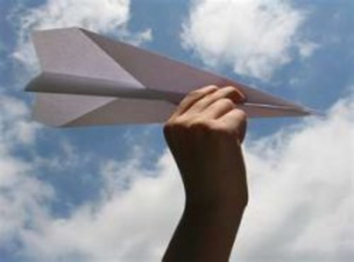 Paper Airplanes & The Four Forces of Flight Lesson